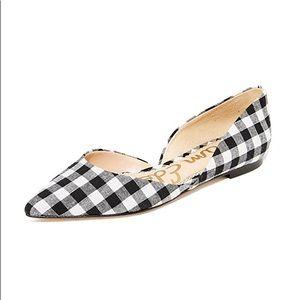 Sam Edelman Rodney d'Orsay plaid leather Flats sz6